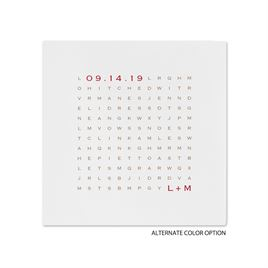 Word Find - White - Dinner Napkin