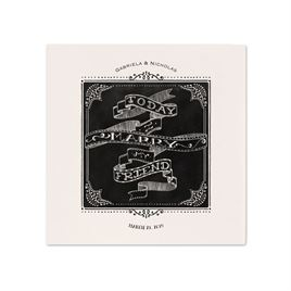 Black and White Wedding Napkins: 