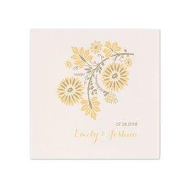 Yellow Wedding Napkins: Prairie Floral - Dinner Napkin