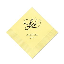 Pastel Yellow Cocktail Napkin