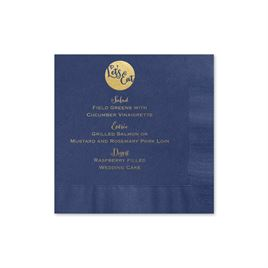 "Let""s Eat - Navy - Foil Cocktail Napkin"