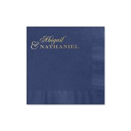 Beautiful Names - Navy - Foil Cocktail Napkin