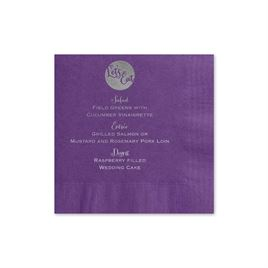 Lets Eat - Purple - Foil Cocktail Napkin