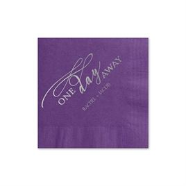 One Day Away - Purple - Foil Cocktail Napkin