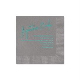 Signature Drink - Pewter - Foil Cocktail Napkin