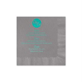 Lets Eat - Pewter - Foil Cocktail Napkin