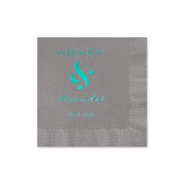 Modern Glow - Pewter - Foil Cocktail Napkin