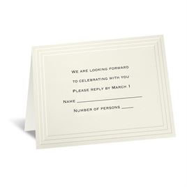 Timeless - Ecru Response Card and Envelope