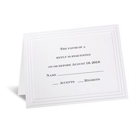 Timeless - White Respond Card and Envelope