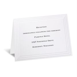 Timeless - White Reception Card