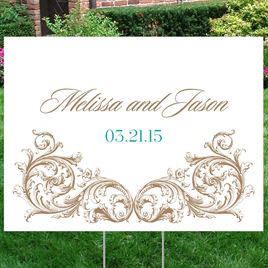 Fancy Filigree Yard Sign