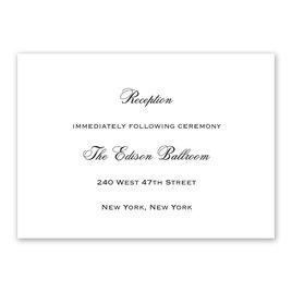 White - Reception Card
