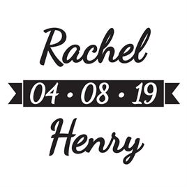 Save the Date Stamps: Banner Custom Stamp