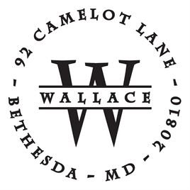 Personalized Stamps: Wallace Address Stamp