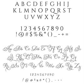 Filigree Address Stamp