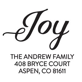 JOY Address Stamp