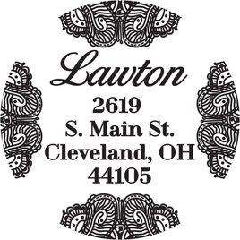 Lace Address Stamp