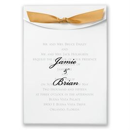 "Gold Satin Ribbon 5/8"" x 7"""