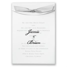 "Grey Satin Ribbon 5/8"" x 7"""