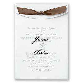 "Mocha Satin Ribbon 5/8"" x 7"""