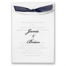 "Navy Satin Ribbon 5/8"" x 7"""