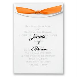 "Orange Satin Ribbon 5/8"" x 7"""