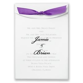 "Purple Satin Ribbon 5/8"" x 7"""