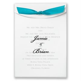 "Turquoise Satin Ribbon 5/8"" x 7"""