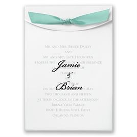 "Aqua Satin Ribbon 5/8"" x 7"""