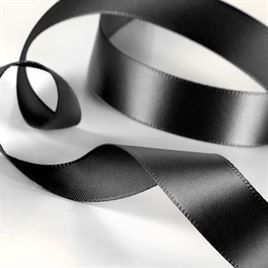 Satin Ribbon - Pre-Cut - Black