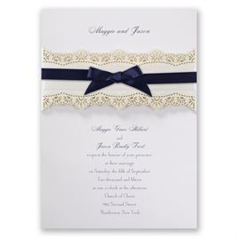 "Navy Ribbon  - 3/8"" x 19"""