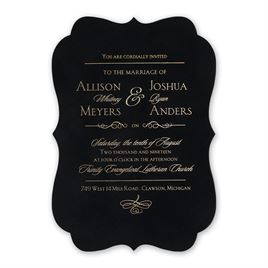 Contoured Elegance - Black - Invitation