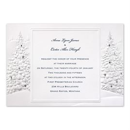 winter wedding invitations wedding wonderland invitation