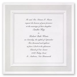 White Wedding Invitations Simple Invites Invitations by Dawn