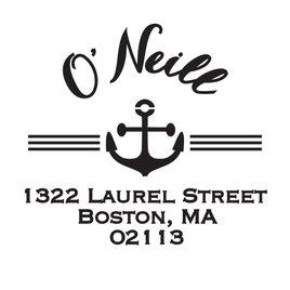 Beach: Nautical Address Stamp