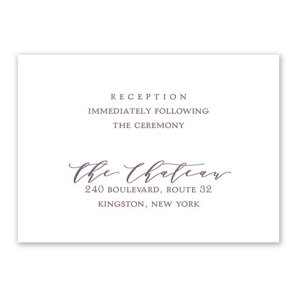 Photo Perfect Reception Card