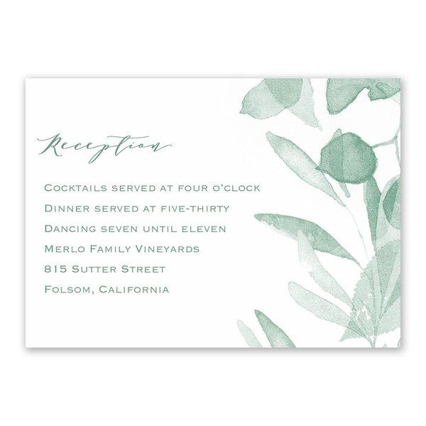Verdant Reception Card