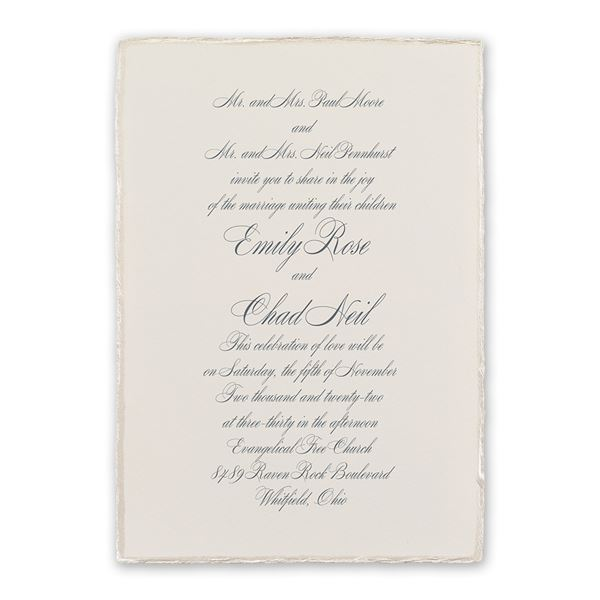 Pearl Trim Invitation Invitations By Dawn