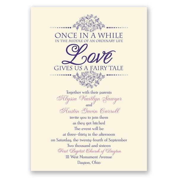 Fairy Tale Love - Ecru - Invitation