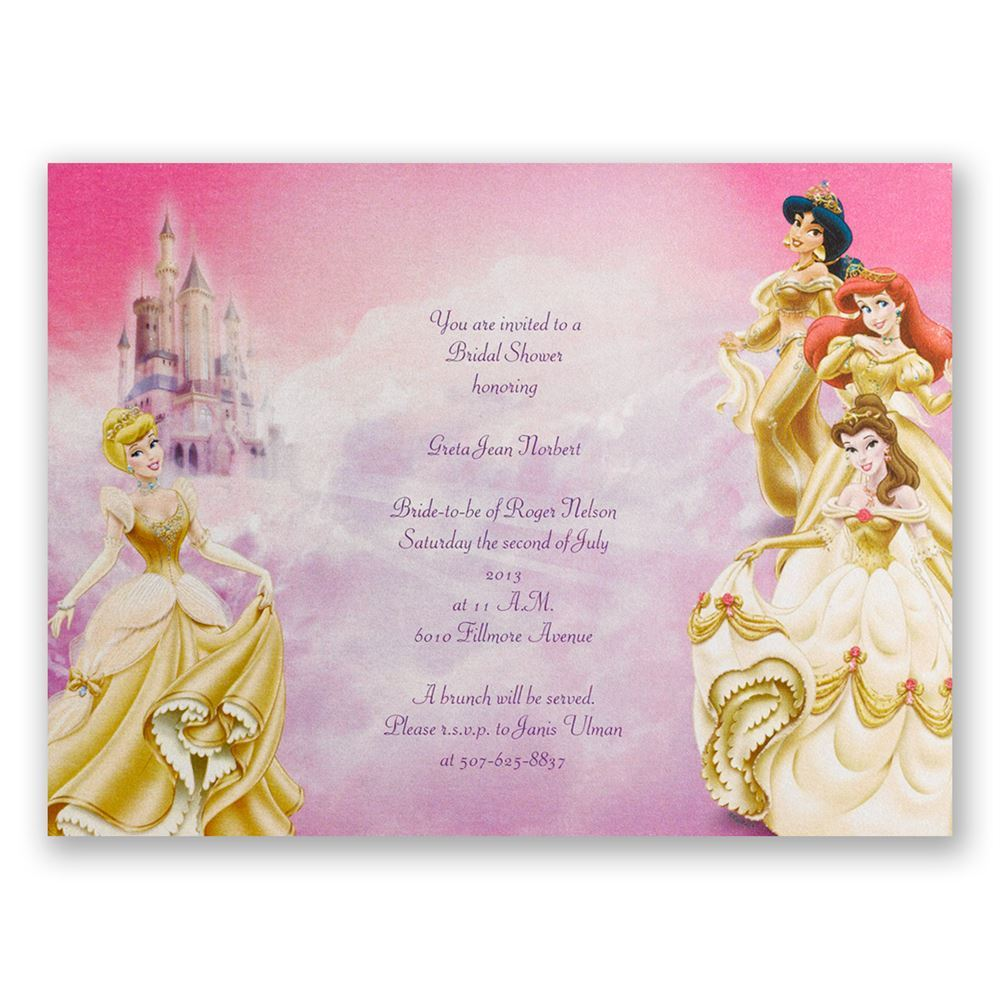 Disney All the Girls Bridal Shower Invitation Invitations By Dawn