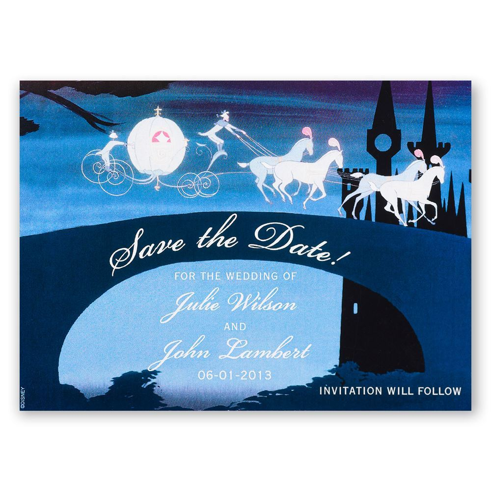 Famous Disney Don't Be Late Save the Date Magnet | Invitations By Dawn SI27