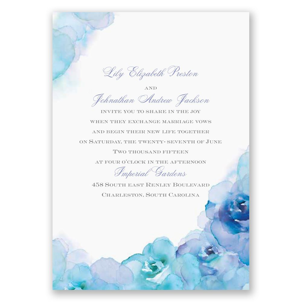 Watercolor Roses Invitation Invitations by Dawn