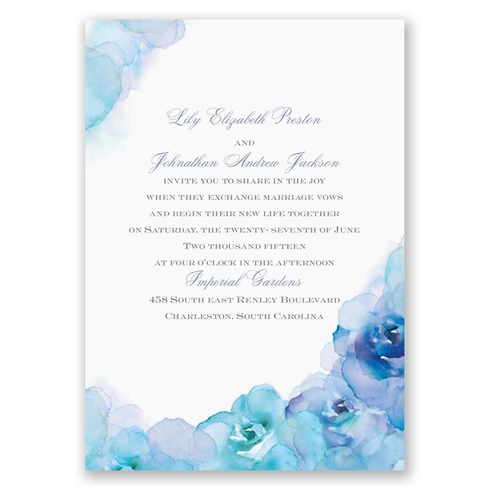 Watercolor Roses Invitation Invitations By Dawn