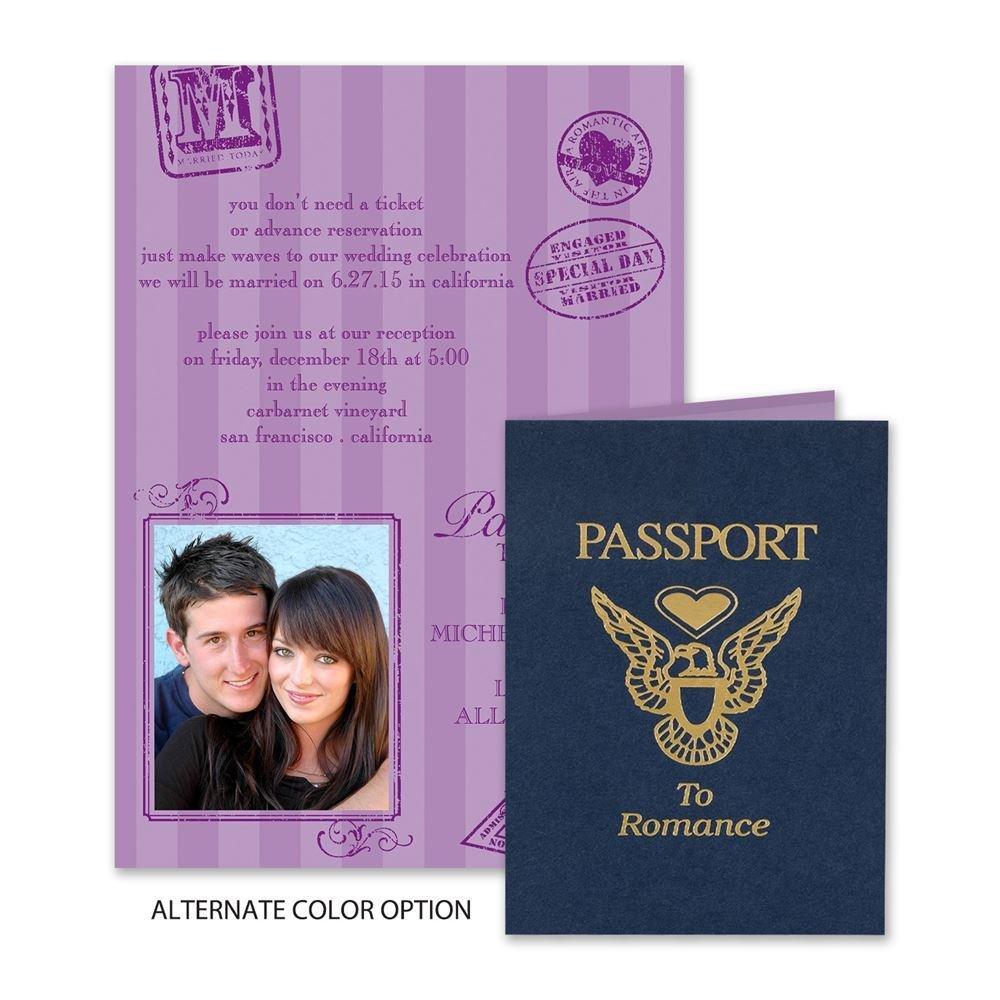 Passport to Romance Invitation – Passport Wedding Invites