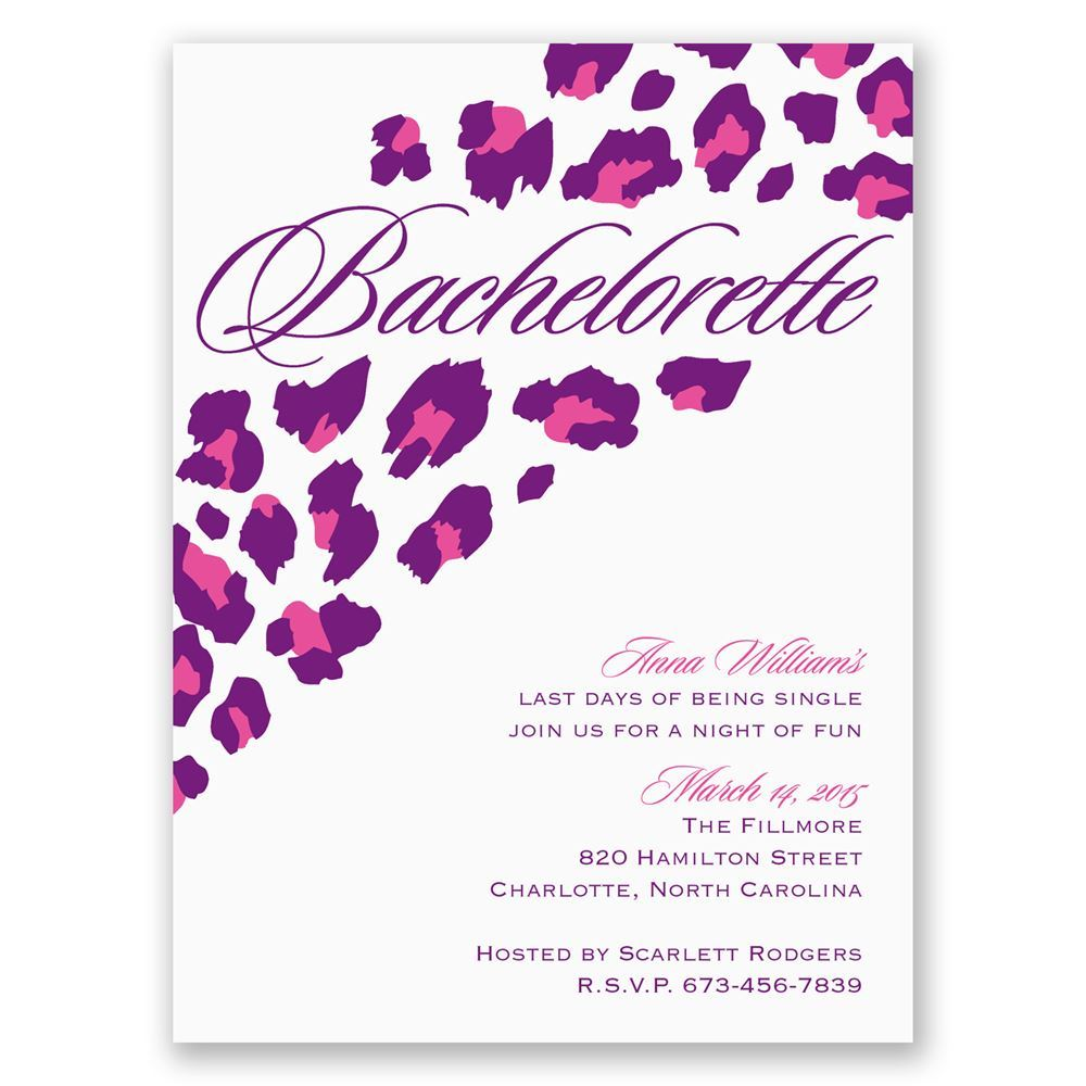 Animal Print Invitation for nice invitations sample