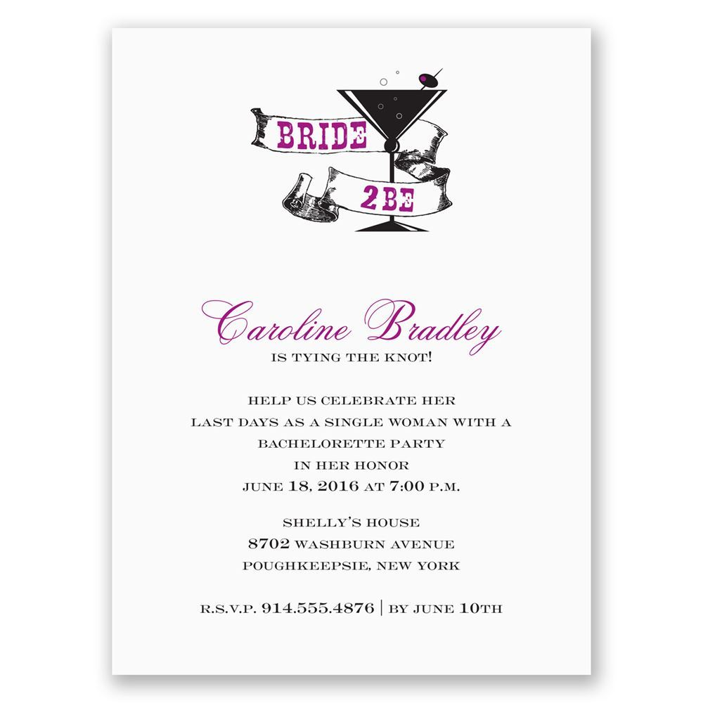 cocktail bachelorette party invitation invitations by dawn