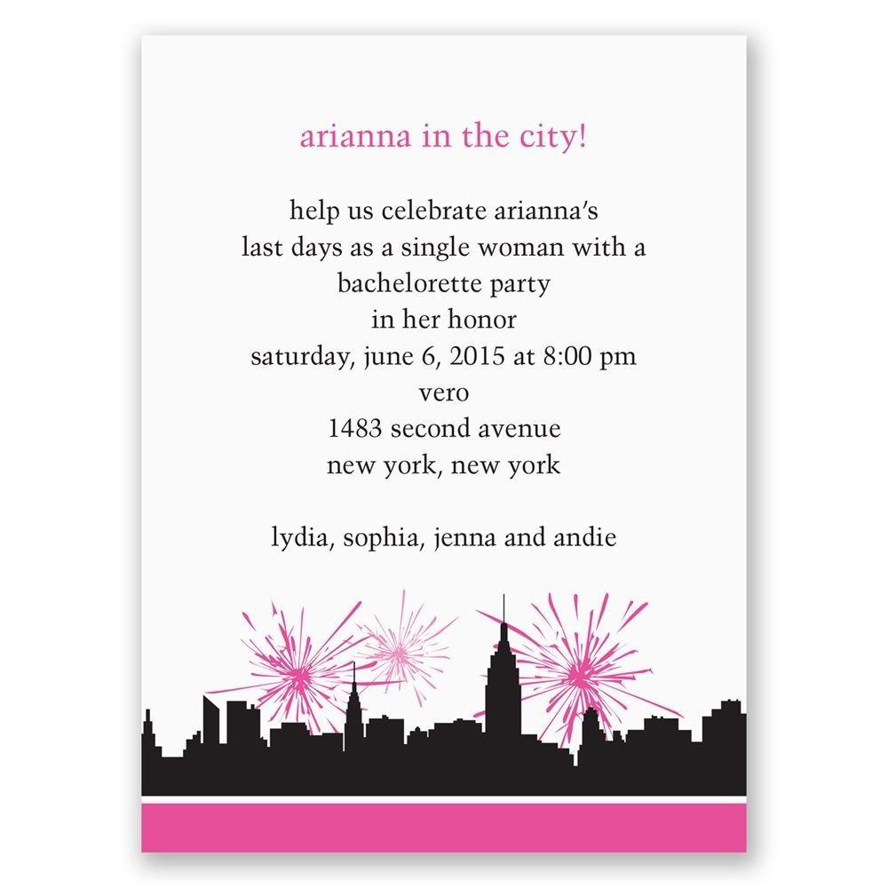 City Girl Bachelorette Party Invitation
