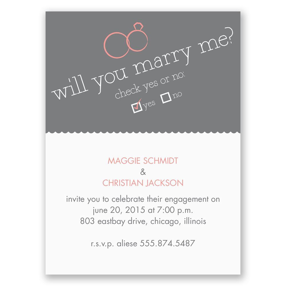 Modern Engagement Party Invite Adornment Invitation Card