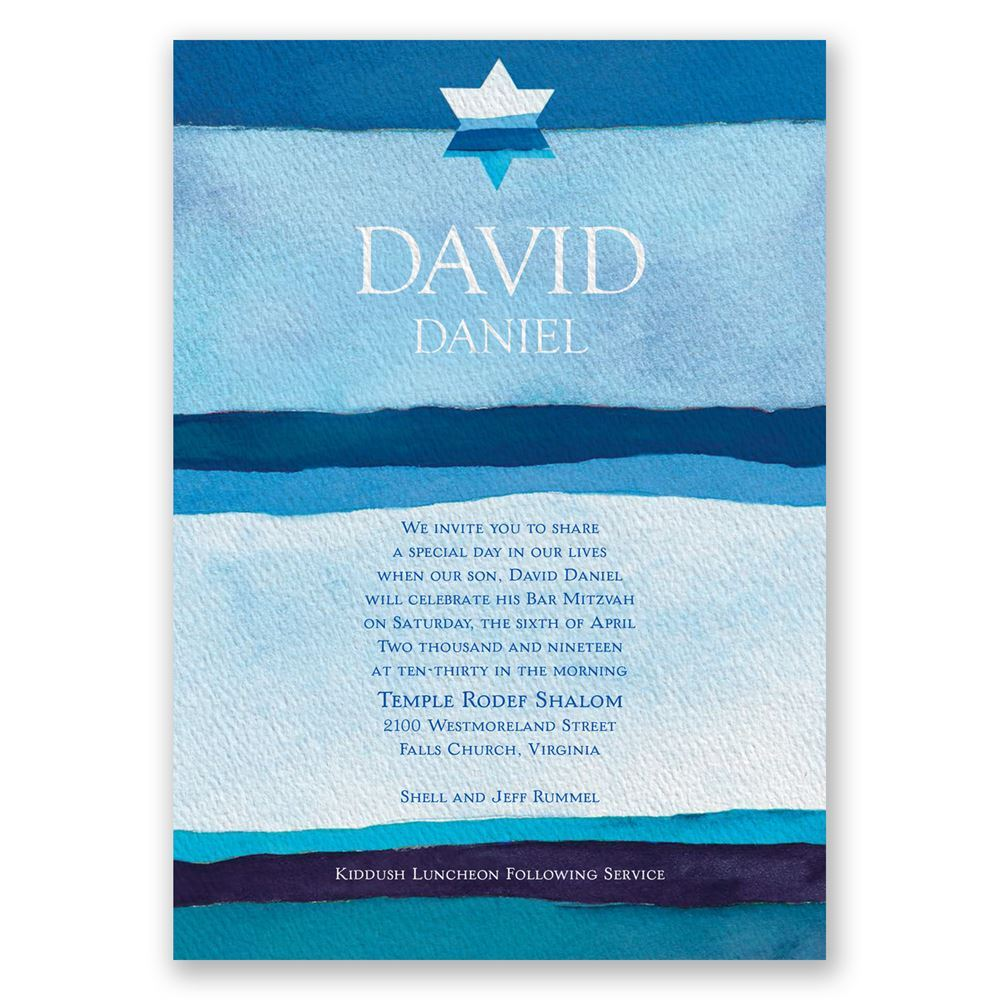 peace bar mitzvah invitation