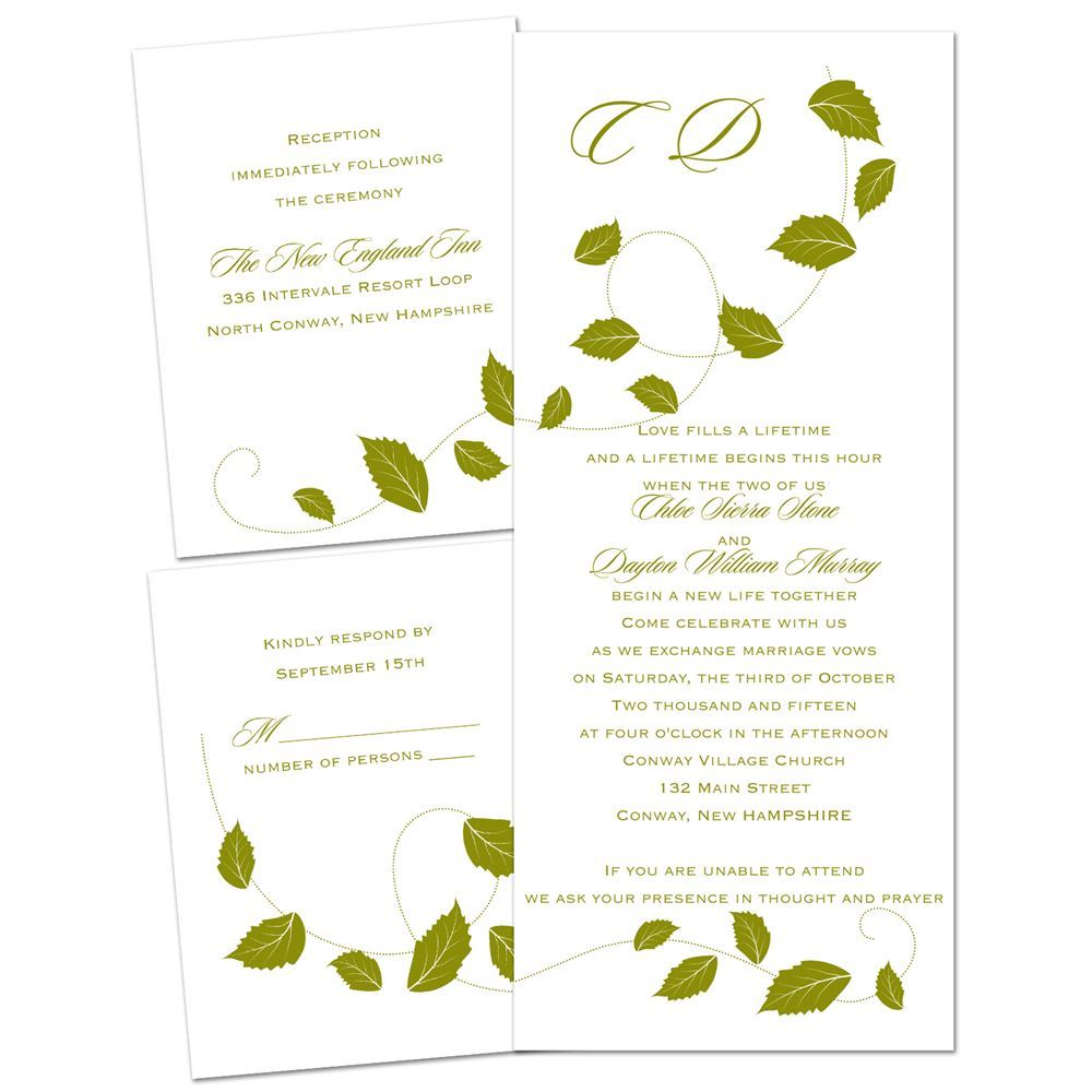 Fall Wedding Invitations | Invitations By Dawn
